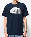 Casual Industrees Sodo Skyline camiseta azul marino