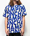 Champion Allover Print Block Text camiseta gris