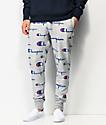 Champion Allover Script Oxford jogger pantalones deportivos grises