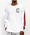 Champion Block C White Long Sleeve T-Shirt