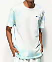 Champion Blue & Green Cloud Dye T-Shirt