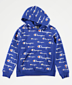 Champion Boys All Over Print Blue Hoodie