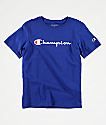 Champion Boys Heritage Blue T-Shirt