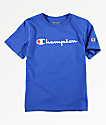 Champion Boys Logo Script Surf Blue T-Shirt