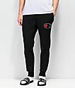 Champion Chenille Applique Black Sweatpants