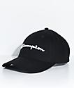 Champion Classic Twill Black Strapback Hat