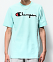 Champion Flock Script Waterfall camiseta menta