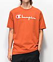 Champion Flock Script camiseta naranja