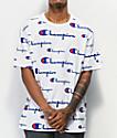 Champion Heritage Allover Print camiseta blanca
