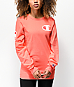 Champion Heritage Big C Groovy Papaya Long Sleeve T-Shirt