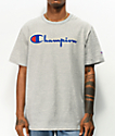 Champion Heritage Script Blue & Grey T-Shirt