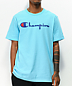 Champion Heritage Script Light Blue T-Shirt