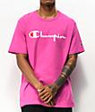 Champion Heritage Script Peony Pink T-Shirt