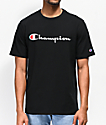 Champion Heritage Script camiseta negra con bordado