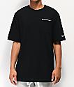 Champion Heritage camiseta negra con bolsillo