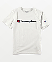 Champion Logo Script camiseta blanca para niños