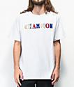 Champion Old English High School Logo camiseta gris