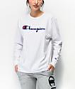 Champion Original Flock camiseta blanca de manga larga