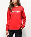 Champion Original Flocked camiseta roja de manga larga