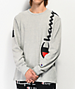 Champion Over Shoulder Oxford camiseta gris de manga larga
