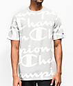 Champion Pintad Heritage Script camiseta gris