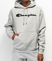 Champion Quilted Logo Grey Hoodie