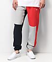 Champion Reverse Weave Colorblock Navy Sweatpants