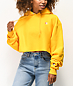 Champion Reverse Weave Gold Crop Hoodie