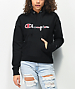 Champion Reverse Weave Three Color Black, Red & Grey Hoodie