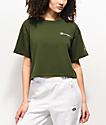 Champion Script Green Crop T-Shirt