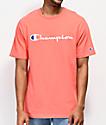 Champion Script camiseta coral