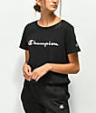 Champion Script camiseta corta negra