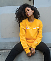 Champion Script camiseta dorada de manga larga
