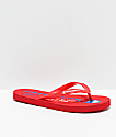 Champion Script chanclas rojas