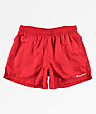 Champion Script shorts de nylon rojo