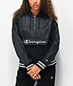 Champion Sideline sudadera con capucha negra con media cremallera