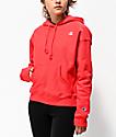 Champion Spark sudadera con capucha roja de tejido inverso
