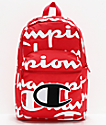 Champion Supercize 2.0 mochila roja y blanca