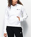 Champion VTG Script sudadera con capucha blanca de tejido inverso