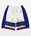 Champion White & Surf Blue Basketball Shorts