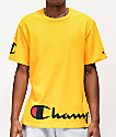 Champion Wrap Around Script Gold T-Shirt