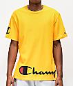 Champion Wrap Around Script camiseta dorada