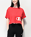 Champion Wrap Script Red Crop T-Shirt