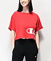 Champion Wrap Script camiseta corta roja