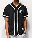 Champion camiseta de béisbol de malla negra
