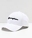 Champion gorra de sarga blanca con logo azul marino