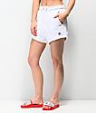 Champion shorts de punto de tejido inverso blanco