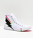 Converse CTAS Hi Pride Ox zapatos en blanco, negro y arcoíris