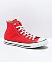 Converse CTAS Hi zapatos rojos y blancos
