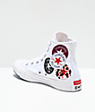 Converse Chuck Taylor All Star Hi Multi Logo White Shoes